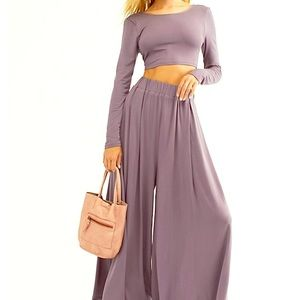 Free People Alia two piece set, lavender size M